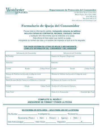Consumer Complaint Form Handling Customer Complaints Customer