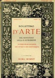 Copertina e controcopertina - Bollettino d'Arte