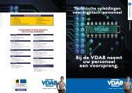Bij de VDAB neemt uw personeel een voorsprong. Technische ...