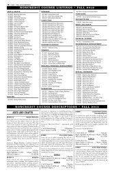 Noncredit Course Listings Fall 2010 - Columbia-Greene Community ...
