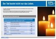 Info Bestattungskosten und Leistungspakete Dt ... - VPV Makler