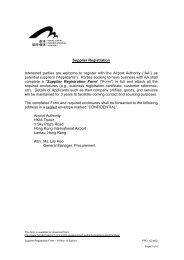 Supplier Registration Form - Hong Kong International Airport
