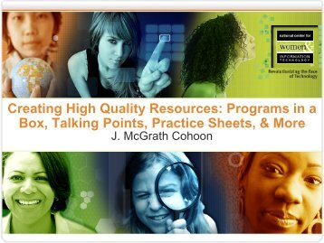 Creating High Quality Resources - National Center for Women ...