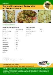 wirsing-rouladen auf rahmgemüse mit bratkartoffeln - Tierheim ...