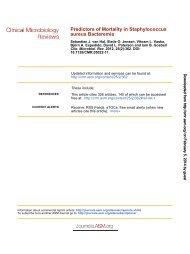 Predictors of Mortality in Staphylococcus aureus Bacteremia