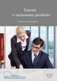 Umowa o zachowaniu poufności - Publio.pl