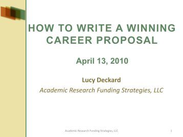 How to write a doctoral proposal
