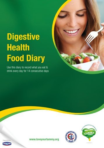 Digestive Health Food Diary - WGO Foundation