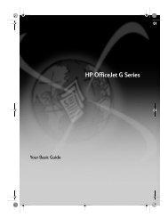 HP Officejet G Series