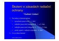 Školení o zásadách radiační ochrany
