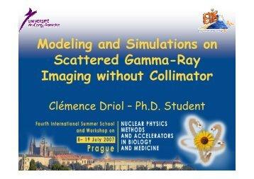 Modeling and Simulations on Scattered Gamma-Ray Imaging
