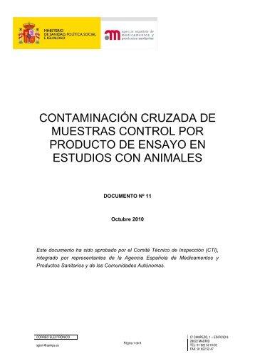 Contaminación cruzada de muestras control por producto de ...