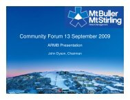 Community Forum 13 September 2009 - Mt Buller