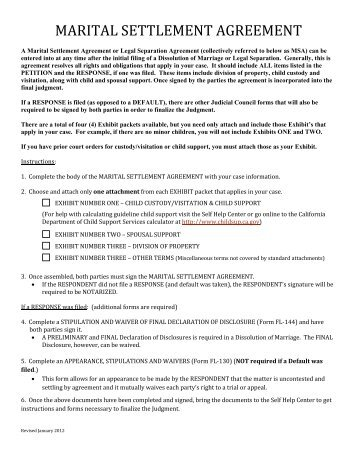 Family law marital settlement agreement prodoc marital settlement agreement stanislaus county superior court platinumwayz
