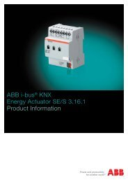 ABB i-bus® KNX Energy Actuator SE/S 3.16.1 Product Information