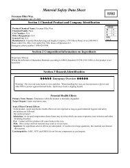Material Safety Data Sheet W80 - Advanced Plastics