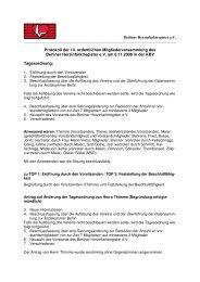 Protokoll der 14. ordentlichen Mitgliederversammlung des Berliner ...