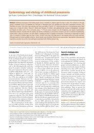 Epidemiology and etiology of childhood pneumonia - World Health ...