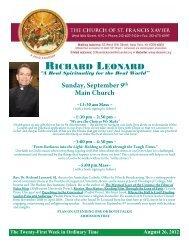 RICHARD LEONARD - Church of St. Francis Xavier