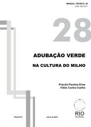 Adubação Verde na Cultura do Milho - Pesagro-Rio