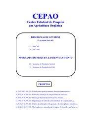 CEP Agricultura Orgânica - Pesagro-Rio