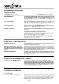 EG-Sicherheitsdatenblatt - Syngenta - Seite 2