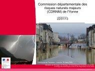 risques naturels - Préfecture de l'Yonne
