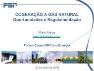 COGERAÇÃO A GÁS NATURAL Oportunidades e ... - Cogen