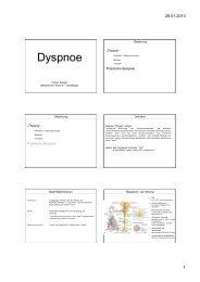 Leitsymptom Dyspnoe - FINeST