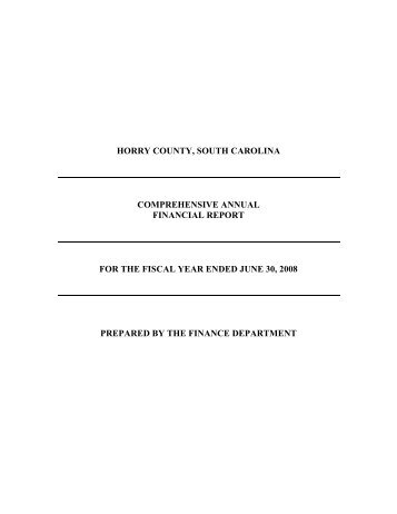 PDF 2008 - Horry County Government
