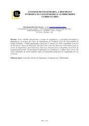 o ensino de engenharia, a disciplina introdução à ... - ABENGE