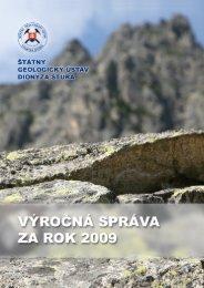 výročná správa za rok 2009 - Štátny geologický ústav Dionýza Štúra