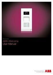 ABB-Welcome User Manual - Busch-Jaeger Elektro GmbH