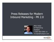 Press Releases for Modern Inbound Marketing - PR 2.0
