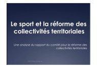Sport et rapport Balladur - CROS