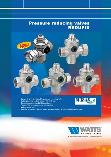 Pressure reducing valves REDUFIX - Watts Industries