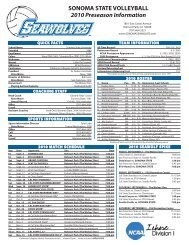2010 Sonoma State Volleyball Preseason Information (.pdf)