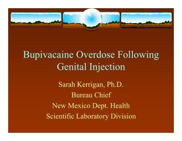Bupivacaine Overdose Following Genital Injection