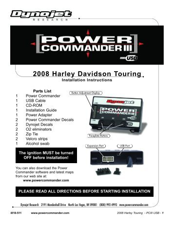 2008 Harley Davidson Touring - Power Commander
