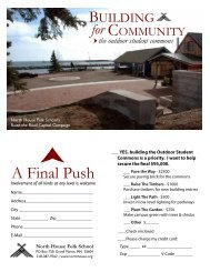 A Final Push - North House Folk School
