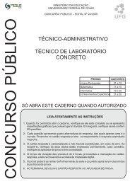 Técnico de Laboratório/Área: Concreto
