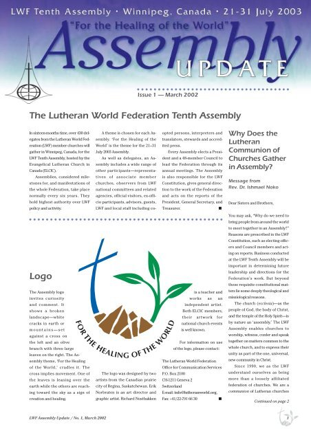 first Assembly Update - LWF Tenth Assembly 2003