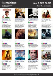 JAN & FEB FILMS - The Maltings