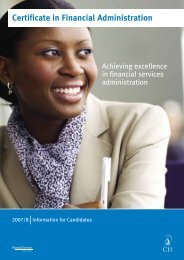 Certificate in Financial Administration - The Chartered Insurance ...