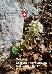 Bulletin Section neuvevilloise Mai – Juin 2011 - CAS La Neuveville