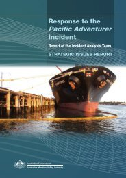 Strategic Issues Report - Australian Maritime Safety Authority