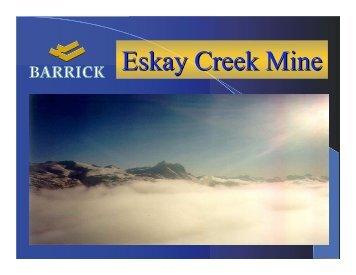 Eskay Creek Mine - Minerals North
