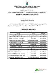 Resultado Parcial do Edital nº 03/2013 - Ufersa