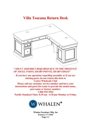 2 Adults Required For Assembling If You Whalen Style