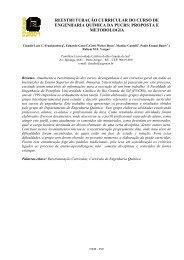 reestruturação curricular do curso de engenharia química da pucrs